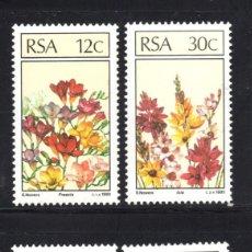 Sellos: SUDAFRICA 588/91** - AÑO 1985 - FLORA - FLORES Y PLANTAS. Lote 58372496
