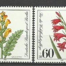 Sellos: SELLO ALEMANIA 1981 TEMÁTICA FLORA - BIENESTAR - FLORES . Lote 58614289