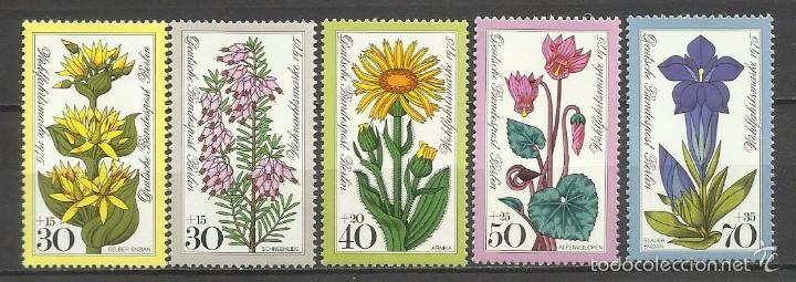 SELLO ALEMANIA 1975 TEMÁTICA FLORA - BIENESTAR - FLORES (Sellos - Temáticas - Flora)