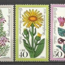 Sellos: SELLO ALEMANIA 1975 TEMÁTICA FLORA - BIENESTAR - FLORES . Lote 58614332