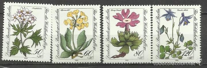 SELLO ALEMANIA 1983 TEMÁTICA FLORA - BIENESTAR - FLORES (Sellos - Temáticas - Flora)