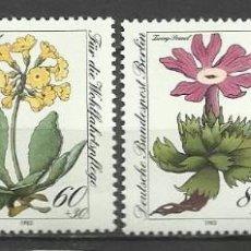 Sellos: SELLO ALEMANIA 1983 TEMÁTICA FLORA - BIENESTAR - FLORES . Lote 58614343