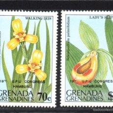 Sellos: GRANADA GRANADINAS 531/32** - AÑO 1984 - FLORA - FLORES . Lote 59730126