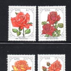Sellos: SUDAFRICA 467/70** - AÑO 1979 - FLORA - FLORES - ROSAS. Lote 59736436