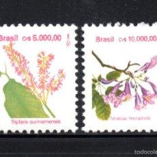Sellos: BRASIL 2095/96** - AÑO 1992 - FLORA - FLORES BRASILEÑAS. Lote 60908351