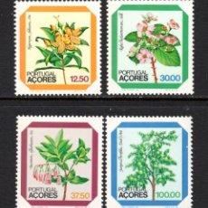 Sellos: AZORES 347/50** - AÑO 1983 - FLORA - FLORES. Lote 60976535