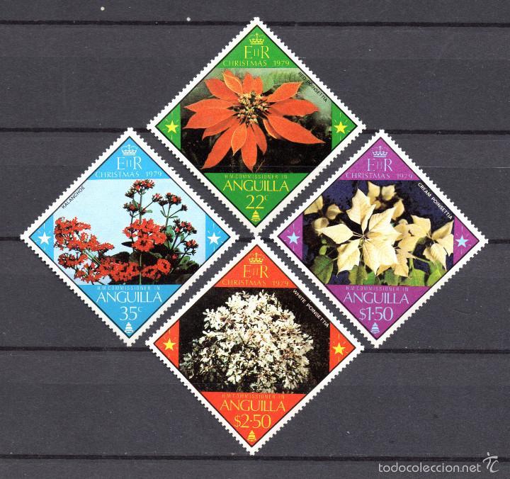 ANGUILLA 334/37** - AÑO 1979 - FLORA - FLORES - NAVIDAD (Sellos - Temáticas - Flora)