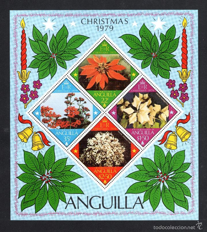 ANGUILLA HB 28** - AÑO 1979 - FLORA - FLORES - NAVIDAD (Sellos - Temáticas - Flora)