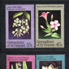 Sellos: GRANADINAS DE SAN VICENTE 351/54** - AÑO 1984 - FLORA - FLORES NOCTURNAS. Lote 61043175