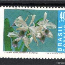 Sellos: BRASIL 969** - AÑO 1971 - FLORA - FLORES - ORQUIDEAS. Lote 61229811