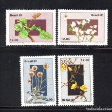 Sellos: BRASIL 1496/99** - AÑO 1981 - FLORA - FLORES. Lote 61527791