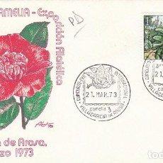 Sellos: AÑO 1973, CONCURSO INTERNACIONAL DE LA CAMELIA EN VILLAGARCIA DE AROSA, SOBRE DE ALFIL. Lote 118144494
