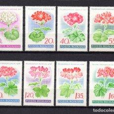 Sellos: RUMANÍA 2389/96** - AÑO 1968 - FLORA - FLORES - GERANIOS. Lote 75663131