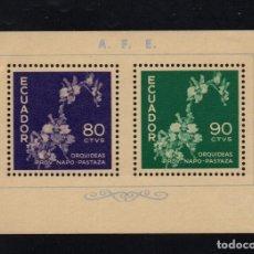 Sellos: ECUADOR HB 8** - AÑO 1960 - FLORA - FLORES - ORQUIDEAS. Lote 75850363