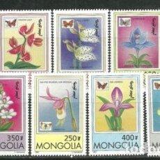 Sellos: MONGOLIA 1997 IVERT 2123/31 *** FLORA Y FAUNA - ORQUIDEAS Y MARIPOSAS. Lote 81665124