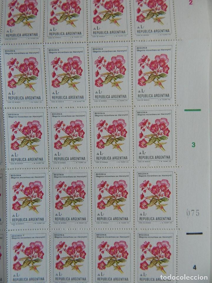Sellos: Pliego 100 s. República Argentina. Flores de Argentina 1-8-1985 - Begonia micranthera var. Hieronymi - Foto 3 - 83457712