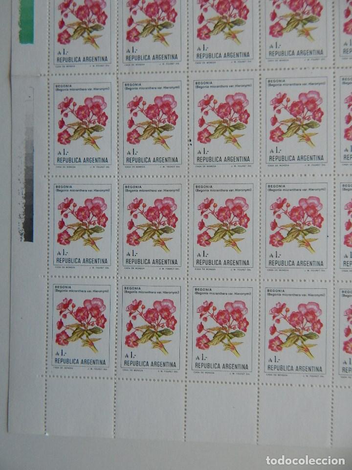 Sellos: Pliego 100 s. República Argentina. Flores de Argentina 1-8-1985 - Begonia micranthera var. Hieronymi - Foto 4 - 83457712