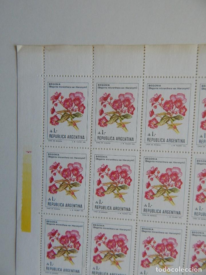 Sellos: Pliego 100 s. República Argentina. Flores de Argentina 1-8-1985 - Begonia micranthera var. Hieronymi - Foto 5 - 83457712
