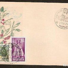 Sellos: ESPAÑA. 1973. SOBRE FILATELICO IBERFLORA 73. VALENCIA . FLORES. Lote 83816388