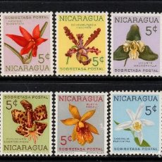 Sellos: NICARAGUA 859/68** - AÑO 1962 - FLORA - FLORES - ORQUÍDEAS. Lote 205610617