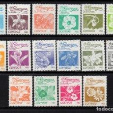 Sellos: NICARAGUA 1248/63** - AÑO 1983 - FLORA - FLORES. Lote 84675636