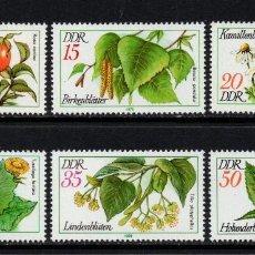 Sellos: ALEMANIA ORIENTAL 1957/62** - AÑO 1978 - FLORA - PLANTAS MEDICINALES. Lote 118325476