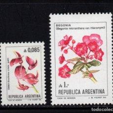 Sellos: ARGENTINA 1479/80** - AÑO 1985 - FLORA - FLORES. Lote 95507307