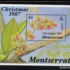Sellos: MONTSERRAT HB 43** - AÑO 1987 - FLORA - FLORES - NAVIDAD. Lote 97545651