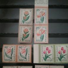 Sellos: SELLOS DE BULGARIA MATASELLADOS. 1960. FLORES. FLORA. NATURALEZA. PLANTAS. TUTIPAN. LIRIO.ROSA.. Lote 102673266