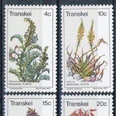 Sellos: TRANSKEI 1977 IVERT 24/7 *** FLORA - PLANTAS MEDICINALES. Lote 105464567