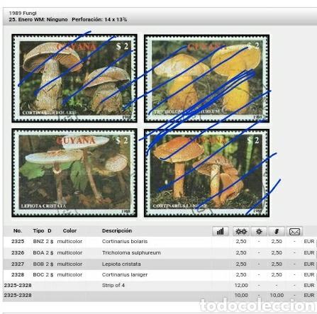 Sellos: Sellos de R. C. Guyana (Guayana) mtdos. 1989. Lepiota cristata. Hosgos. Setas. Descomponedores. Natu - Foto 2 - 110934751