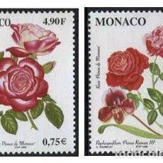 Sellos: MONACO - FLORES / ROSAS (1999) **. Lote 114928103