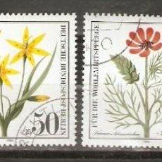 Sellos: ALEMANIA BERLIN. 1980. MI Nº 517/520. FLORES. FLORA.. Lote 116202599