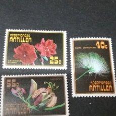 Sellos: SELLOS DE ANTILLAS HOLANDESAS NUEVOS. 1977. FLORES. PLANTAS. TAMARIMDO. CORDIA. ALBICIA. NATURALEZA.. Lote 118030427