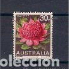 Sellos: FLOR WARATAH. AUSTRALIA. SELLO AÑO 1968. Lote 119278451