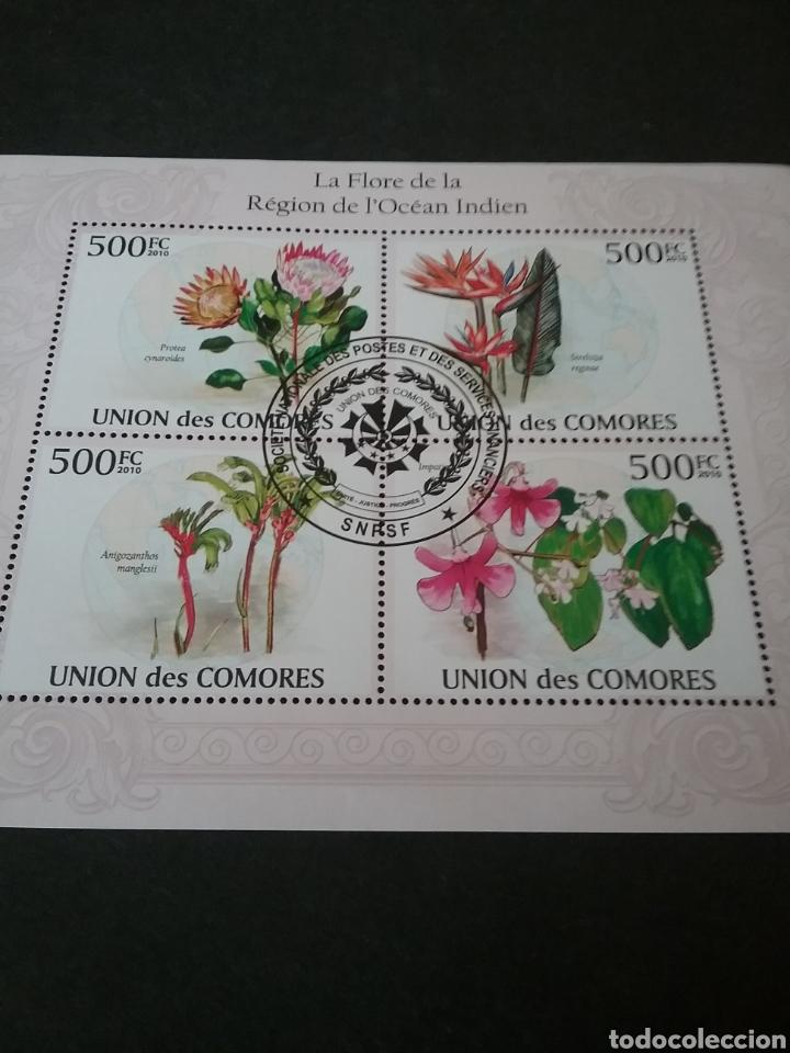 MP/SELLOS ISLAS COMORO (U. COMORES) MTDA. 2010. FLORES. PLANTAS. ORQUISEAS. GLOBO TERRAQUEO. ECOSIST (Sellos - Temáticas - Flora)