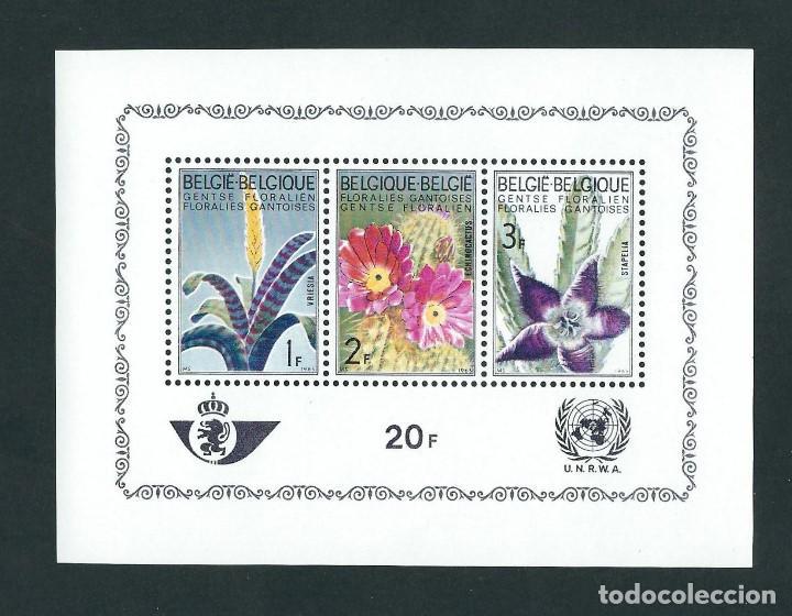 BELGICA 1965 HB-38 FLORES (Sellos - Temáticas - Flora)