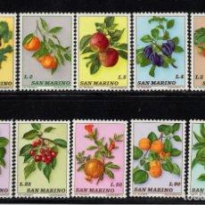 Sellos - SAN MARINO 837/46** - AÑO 1973 - FLORA - FRUTOS - 133225270
