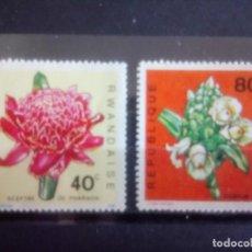 Sellos: FLORES, SELLOS DE RWANDA DE 1968. Lote 133895842
