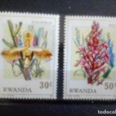 Sellos: FLORES, SELLOS DE RWANDA DE 1976. Lote 133895986