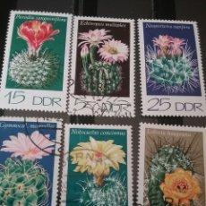 Sellos: SELLOS DE ALEMANIA, R.D (DDR) MTDOS/1974/CACTUS/PLANTAS/FLORES/NATURALEZA/BOTANICA/DESIERTO/. Lote 135589166