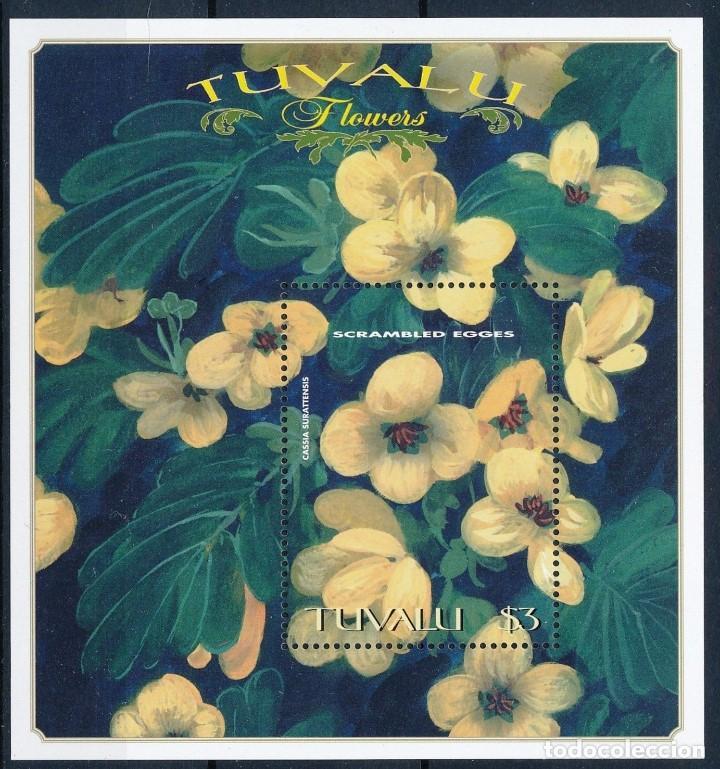SELLO TUVALU 1999 Y&T BF 69 FLORES (Sellos - Temáticas - Flora)