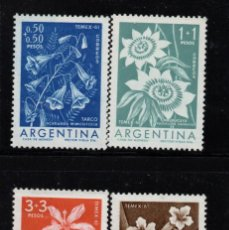Timbres: ARGENTINA 629/32** - AÑO 1960 - FLORA - FLORES. Lote 136044118