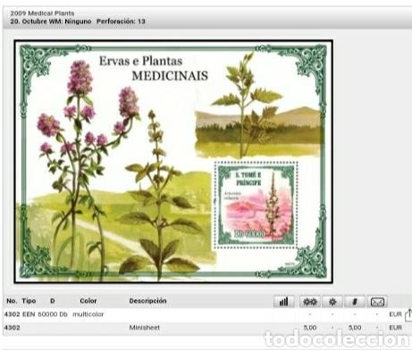 Sellos: HB S. Tomé y Príncipe mtdos/2009/Artemisa/Plantas medicinales/Paisajes/Flores/Naturaleza/hiervas/ - Foto 2 - 136414428