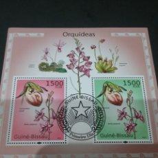 Sellos: HB R. GUINEA-BISSAU MTDAS/2010/ORQUIDEAS/FLORA/FLORES/PLANTAS/NATURALEZA/. Lote 138892081