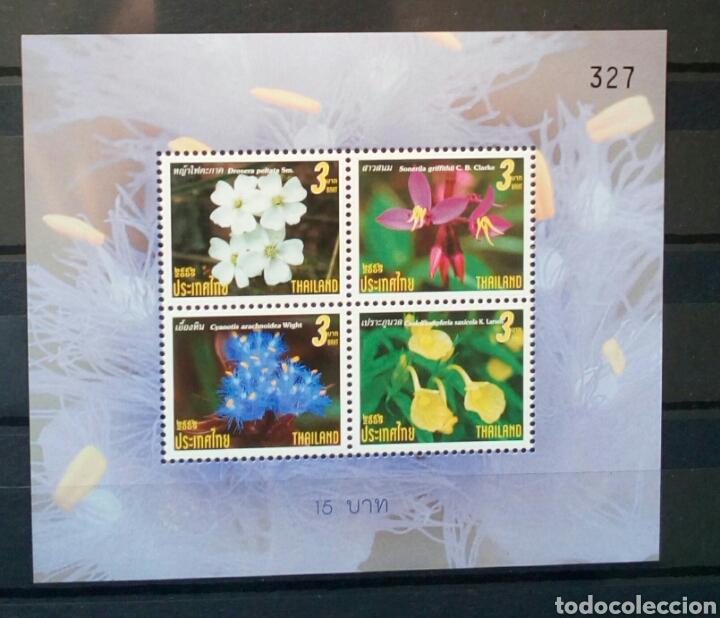 TAILANDIA 2009 FLORES HOJA BLOQUE DE SELLOS NUEVOS (Sellos - Temáticas - Flora)