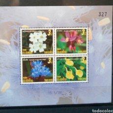 Sellos: TAILANDIA 2009 FLORES HOJA BLOQUE DE SELLOS NUEVOS. Lote 141657901
