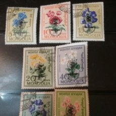 Sellos: SELLOS R. MONGOLIA MTDOS/1960/FLORES/FLORA/NATURALEZA/TULIPAN/GERANEO/PETUNIA/PLANTAS. Lote 143081185