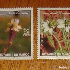Sellos: MARRUECOS. SERIE COMPLETA FLORES 2004. YVERT 1347/1348. USADOS. Lote 143395954