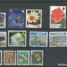 Sellos: 12 SELLOS FLORA GUNERSEY, JERSEY Y NUEVA ZELANDA LOS DE LA FOTO . Lote 146692450